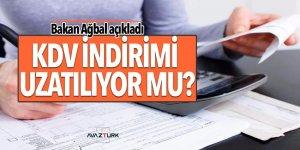 Bakan Ağbal: KDV indiriminin uzatılması değerlendirilecek
