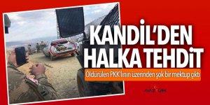 PKK'lı teröristlerin üzerinden çıkan şok mektup!