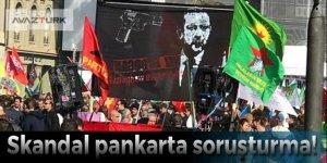 Erdoğan'ı hedef gösteren skandal pankarta soruşturma!