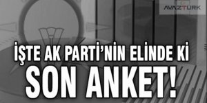 Çavuşoğlu, AK Parti'nin elindeki son anketi açıkladı!