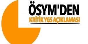 ÖSYM'den kritik YGS açıklaması!
