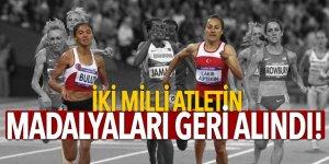 İki milli atletin madalyaları geri alındı!