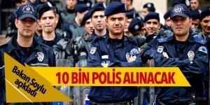 Bakan Soylu: 10 bin polis alınacak