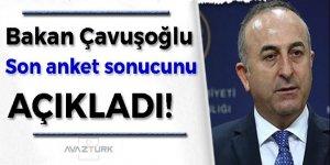 Bakan Çavuşoğlu son anket sonucunu açıkladı!