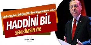 Cumhurbaşkanı Erdoğan: Haddini bil! Sen kimsin ya...