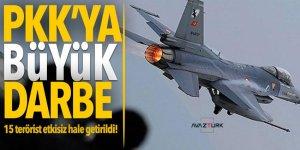 PKK'ya büyük darbe: 15 terörist etkisiz hale getirildi!