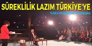 Başbakan Yıldırım gençlerin sorularını yanıtladı!