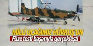 Milli uçağımız Hürkuş'un füze testi başarıyla gerçekleşti