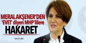 Meral Akşener'den 'evet' diyen MHP'lilere hakaret