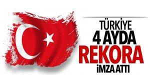 Türkiye 4 ayda rekora imza attı