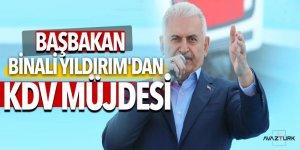 Başbakan Binali Yıldırım'dan KDV müjdesi