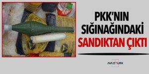 Teröristlerin sığınağındaki sandıktan anti tank roketi çıktı