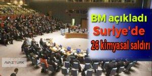 BM açıkladı: Suriye'de 26 kimyasal saldırı!