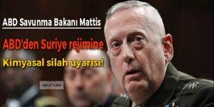 ABD'den Suriye rejimine kimyasal silah uyarısı!