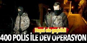 İstanbul'da 400 polisli uyuşturucu operasyonu