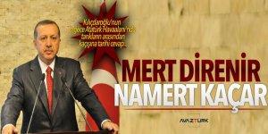 Erdoğan:Mert direnir namert kaçar