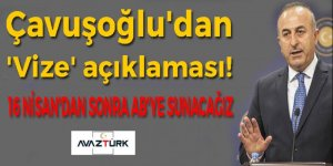 Çavuşoğlu'dan 'Vize serbestisi' açıklaması!