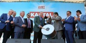 Erdoğan davul çaldı