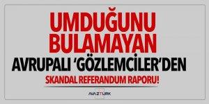 Avrupalı 'Gözlemciler'den skandal referandum raporu!