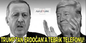 Trump'tan Erdoğan'a tebrik telefonu!