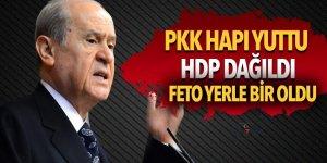 Bahçeli: PKK hapı yuttu, HDP dağıldı FETO yerle bir oldu