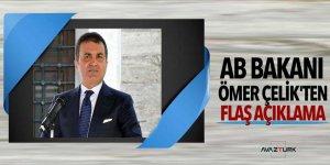AB Bakanı Ömer Çelik'ten flaş açıklama