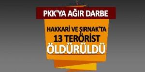 Hakkari ve Şırnak'ta PKK'ya ağır darbe!