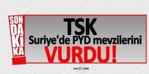 TSK, Suriye'de PYD mevzilerini vurdu!