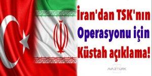 İran'dan TSK'nın operasyonu için küstah açıklama!