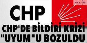 CHP'de bildiri krizi!