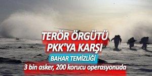 Terör örgütü PKK'ya karşı bahar temizliği