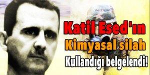 Katil Esed'ın kimyasal silah kullandığı belgelendi!
