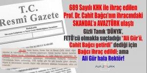 Gaziantep'i karıştıran SKANDAL: 'Dünya'nın ifadesinde, FETÖ ile suçlanan rektör değil, onu GAÜN'e getirmekle suçlanan Bağcı ihraç edildi!