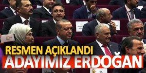 Başbakan resmen açıkladı! Adayımız Erdoğan