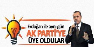 Erdoğan ile aynı gün AK Parti'ye üye oldular!