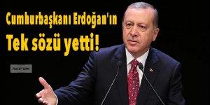 Cumhurbaşkanı Erdoğan'ın tek sözü yetti!