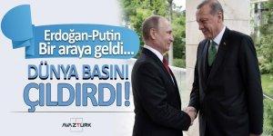 Erdoğan-Putin bir araya geldi... Dünya basını çıldırdı!