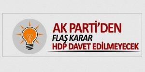 AK Parti HDP'yi kongreye davet etmeyecek