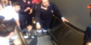 Metro istasyonunda feci kaza! Korku dolu anlar