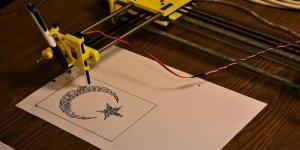 Tosya'da öğrenciler 3D yazıcı yaptı!