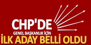 CHP'de genel başkanlık için ilk aday belli oldu