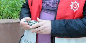 Otogarda içi boş el bombası bulundu
