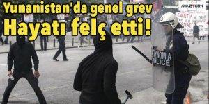 Yunanistan'da genel grev hayatı felç etti!