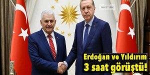 Erdoğan ve Yıldırım 3 saat görüştü!