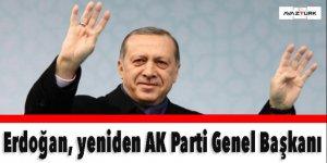 Erdoğan, ikinci kez AK Parti Genel Başkanı seçildi