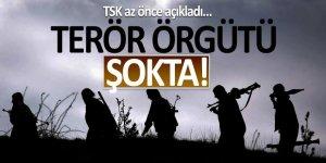 TSK az önce açıkladı… Terör örgütü şokta!