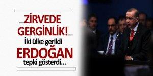 Zirvede gerginlik! İki ülke gerildi Erdoğan tepki gösterdi…