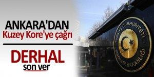 Ankara'dan Kuzey Kore'ye çağrı: 'Provokatif davranışlara son ver'