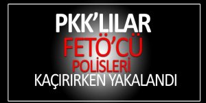 PKK'lılar FETÖ'cü polisleri kaçırırken yakalandı