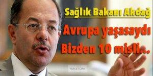Bakan Akdağ: Avrupa yaşasaydı, bizden 10 misli daha...